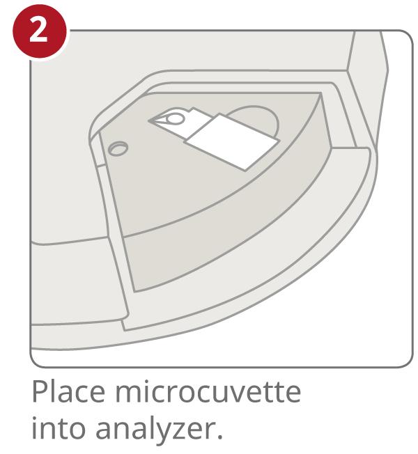 HemoCue Hb 301 step 2 insert the cuvette into analyzer
