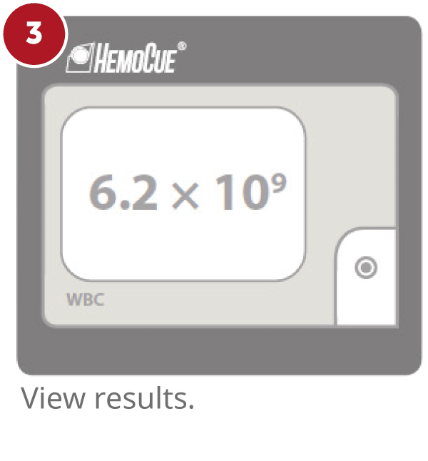 HemoCue WBC step 3 - view results