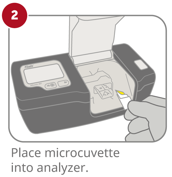 HemoCue Albumin 201 System step 2