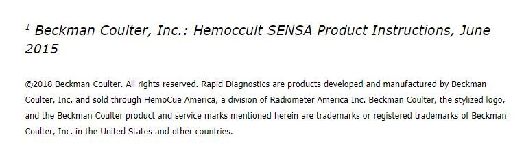 Hemmocult sensa product instructions