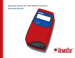 HemoCue Glucose 201 Operating Manual