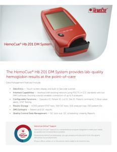HemoCue Hb 201 DM brochure