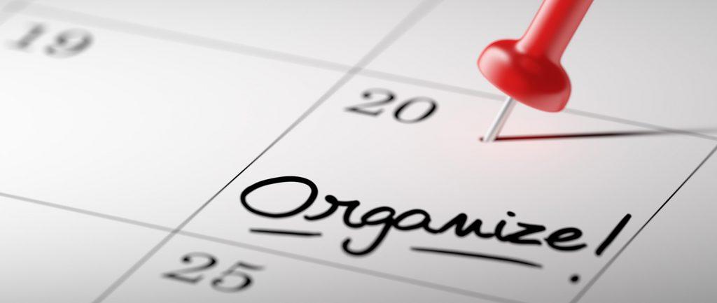 red pin on calendar