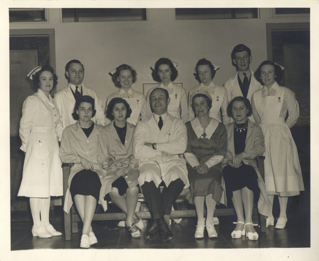 Dr. Charles Drew with staff at the first blood bank